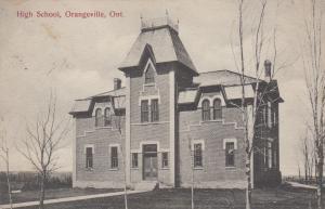 ORANGEVILLE , Ontario , Canada, PU-1914; High School