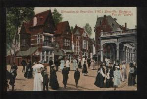 059558 BELGIUM Exposition de Bruxelles 1910 Vintage PC