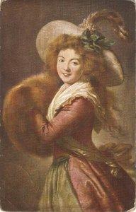 Le Brun.  Madame Molé Raymond Fine art, painting, vintage German postcard