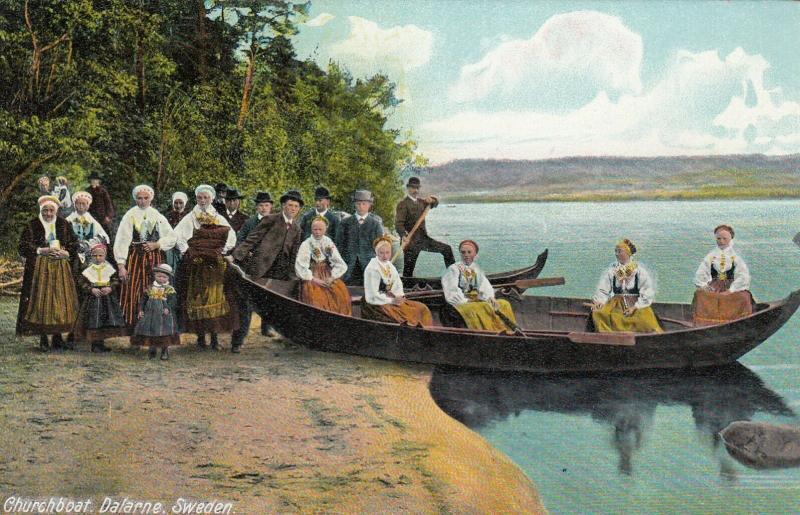 DALARNE, Sweden, 1900-1910s; Churchboat