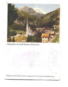 Heiligenblut mit Grob Glockner, Austria, Advertising Back, Greiling Cigarettes