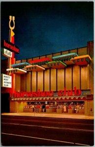 Reno, Nevada Postcard HORSESHOE CLUB CASINO Street View Night c1950s Unused
