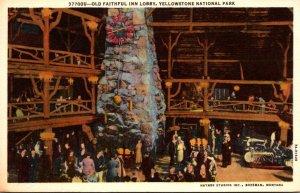 Yellowstone National Park Old Faithful Inn Lobby Curteich
