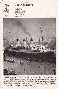 Hamburg-Sudamerikanischen Ocean Liner CAP ARCON, 1930s ID card