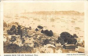 Marblehead MA Harbor View From The Airplane RPPC Postcard
