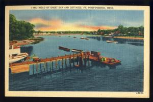 Point Independence, Massachusetts/Mass/MA Postcard,Onset Bay/Pier/Cottages