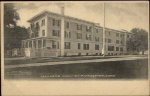 South Manchester CT Teachers Hall c1905 Postcard