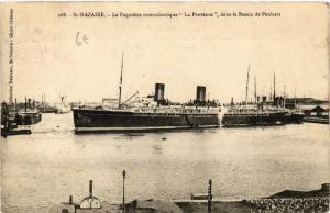 CPA St-Nazaire Le Paquebot transatlantique La Provence , dans le Bass (610831)