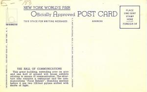 NY - New York World's Fair, 1939. Hall of Communications