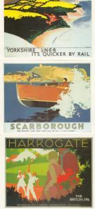 LNER Yorkshire Scarborough Harrogate 3x Train Advertising Railway Postcard s