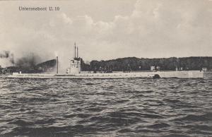 Unterseeboot 10 ; U-Boat (Submarine) on surface , 00-10s