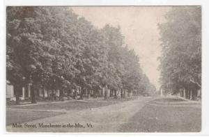 Main Street Manchester Vermont 1911 postcard