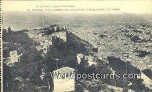 de la Al Hambra Desde La Sil La Del Moro, Granada Spain Tarjeta Postal Unused