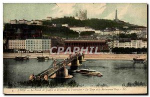 Old Postcard Lyon Courthouse and Fourviere Coteau La Tour and Gay Restaurant