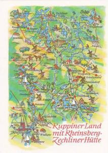 Map Germany Ruppiner Land Mit Rheinsberg-Zechliner Huette