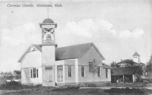 Middleton Michigan~Christian Church~Note on Bk by Congregant~School~1913 Pc