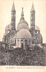Italy Old Vintage Antique Post Card Padova Basilica di S Antonio Unused