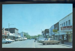 Frederic,Wisconsin,WI Postcard, Downtown Street, Old Cars