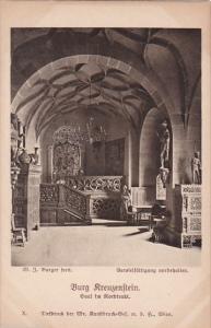 Austria Loebenstein Burg Kreuzenstein Saal im Nordtrakt