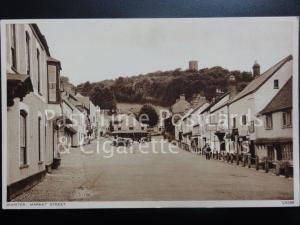Somerset: Dunster, Market Street, Old PC showing DUNSTER CAFE & POSTCARD SHOP