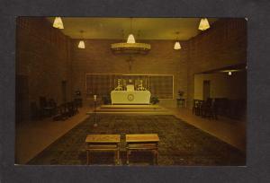 MI Chapel Sacramentine Nuns Sisters CONWAY MICHIGAN Postcard Nuns Monestery