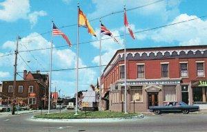 Flags at The Royal Bank Of Canada Main Street St Stephen New Brunswick Postcard