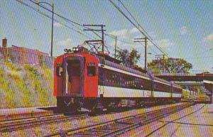 Canadian National Railway Electric Commuter Cars at Mt Royal