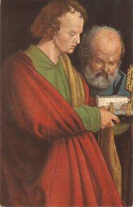 A. Durer. Petrus and Johannes Fine painting vintage German postcard