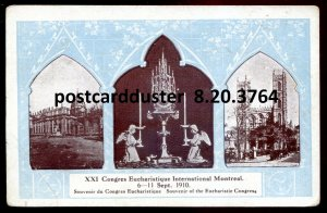 3764 - MONTREAL Quebec Postcard 1910 Congress Eucharistique