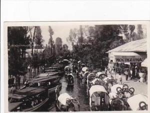 Mexico Xochimilco Gardens Flower Decked Boats &  Restaurant Montezuma Real...