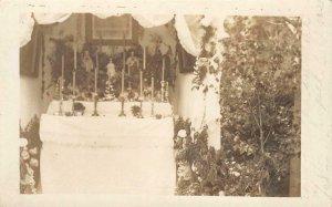 RPPC Chapel, Corpus Christi, Texas Church c1910s Vintage Photo Postcard