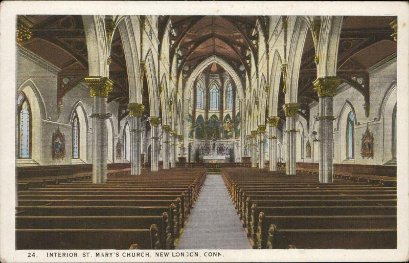 St Mary's Church New London interior Connecticut