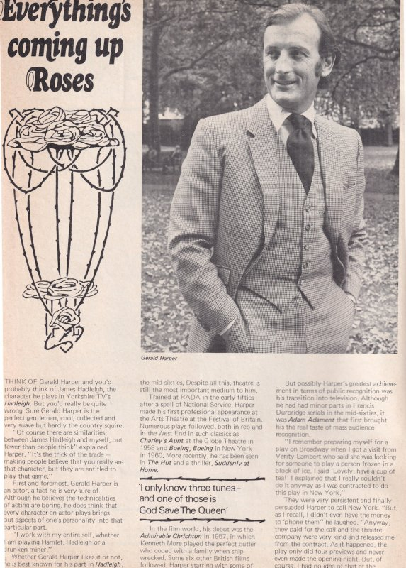 Gerald Harper The Young Ones Vintage Irish DJ Radio Magazine