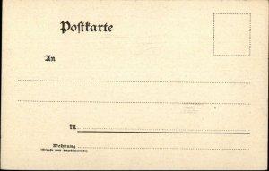 Gruss Aus Munchen Germany c1900 Floral Border Postcard THEATER