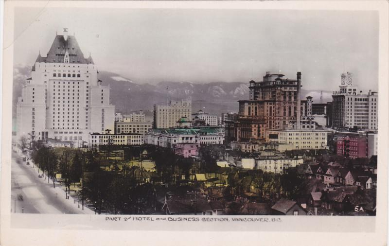 RP: Part of Hotel & Business section , VANCOUVER , B.C. , Canada , 1920-30s