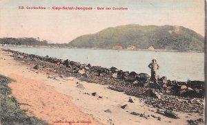 Cap Saint Jacques, Bale des Cocotiers Cochinchine Vietnam, Viet Nam Writing o...