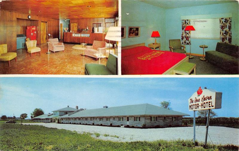 Clarks Hill Indiana~Rose Haven Motor Hotel~Coca-Cola Vending Machine~Lobby~1959