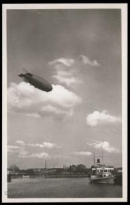 3rd Reich Germany Graf Zeppelin Airship  RPPC 66445