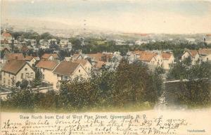 1907 Gloversville New York View North End West Pine Street Cowles postcard 5668