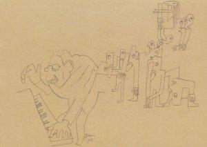 Igor Stravinsky Le Sacre Du Princetemps Ballet 1913 Painting Postcard
