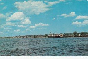 CHATHAM, New Brunswick, Canada1987; Miramichi River, Boat landing at wharf