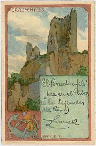 Ansichtskarte  VINTAGE POSTCARD: GERMANY -   Drachenfels 1903
