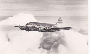 RP: TWA Stratoliner airplane in flight , 40-50s