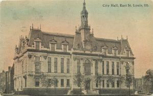 East St Louis Illinois~Old City Hall~Gothic Architecture~1908 Postcard