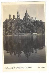 RP, Parliament With Reflection, Ottawa, Ontario, Canada, 1920-1940s
