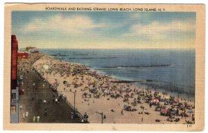 Long Beach, Long Island, N.Y., Boardwalk and bathing Strand