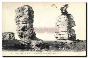 Old Postcard surroundings Royan Vallieres Les Rochers isolated