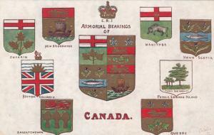 TUCK #2552, E.R.I. Armorial Bearings of Canada, 1900-10s