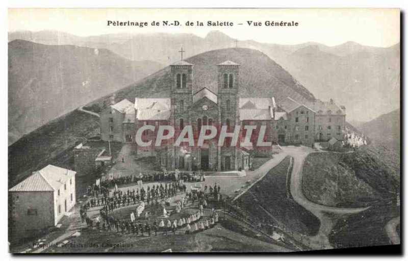 Old Postcard Pilgrimage of Our Lady of La Salette Vue Generale