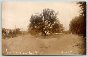 Waseca MN Big Homes Near Flat Iron* Park (Now Emerson Pk) on E Elm St~RPPC 1909